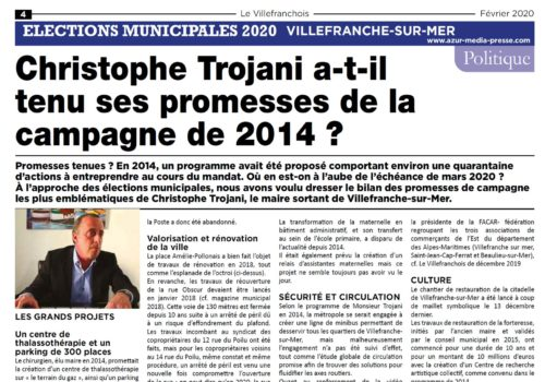 Azur media press Février 2020
